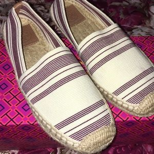 Tory Burch 💖 Sripped Elastic Espadrille Shoes 🔥✨